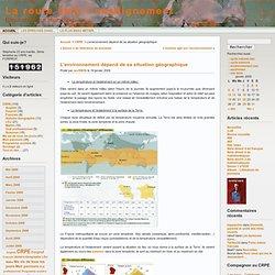 La route vers l'enseignement » Archives du Blog » L'environnement dépend de sa situation géographique