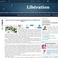 Quel avenir pour l'enseignement du français dans nos établissements publics ?