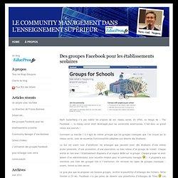 Le community management dans l'enseignement supérieur » Blog Archive » Des groupes Facebook pour les établissements scolaires