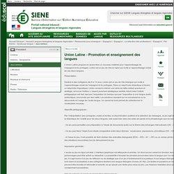 Union Latine - Promotion et enseignement des langues - Langues étrangères et langues régionales - éduscol SIENE