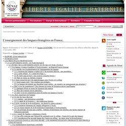 L'enseignement des langues étrangères en France,