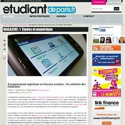 Enseignement supérieur et réseaux sociaux : les attentes des étudiants.