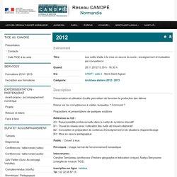 2012 - Les outils d'aide à la mise en œuvre du socle : enseignement et évaluation par competence