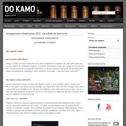 Enseignement d'exploration 2012 : Cannibale de Daeninckx