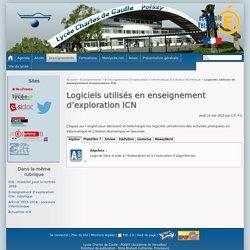 Logiciels utilisés en enseignement d'exploration ICN - Lycée Charles de Gaulle - POISSY