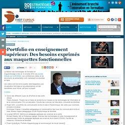 ePortfolio en enseignement supérieur: Des besoins exprimés aux maquettes fonctionnelles : Articles : Thot Cursus