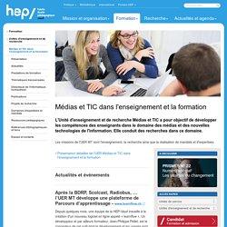 Médias et TIC dans l'enseignement et la formation - Unités d'enseignement et de recherche - Formation