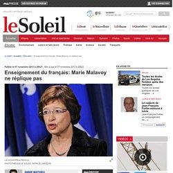 Enseignement du français: Marie Malavoy ne réplique pas