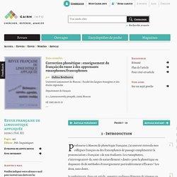 Correction phonétique: enseignement du français/du russe à des apprenants russophones/francophones