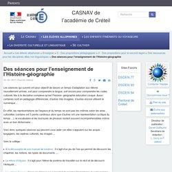 CASNAV de l'académie de Créteil - Des séances pour l'enseignement de l'Histoire-géographie