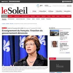 Enseignement du français: l'inaction du gouvernement dénoncée