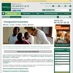 Enseignement humanitaire (volontariat, bénévolat en Afrique, Asie, Amérique latine)