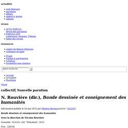 N. Rouvière (dir.), Bande dessinée et enseignement des humanités