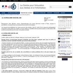 Centre de Liaison de l'Enseignement et Médias d'Information - Le journalisme dans Bel-Ami