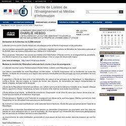 Centre de Liaison de l'Enseignement et Médias d'Information - Charlie Hebdo