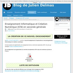 Enseignement Informatique et Création Numérique (ICN) en seconde générale - Blog de Julien Delmas