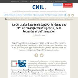 La CNIL salue l'action de SupDPO, le réseau des DPO de l'Enseignement supérieur, de la Recherche et de l'Innovation