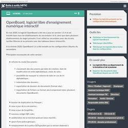 OpenBoard, logiciel libre d'enseignement numérique interactif