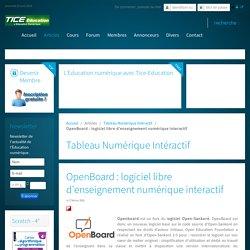 OpenBoard : logiciel libre d'enseignement numérique interactif