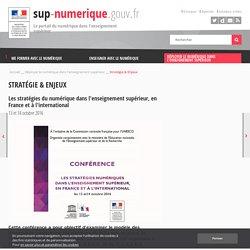 Les stratégies du numérique dans l'enseignement supérieur, en France et à l'international