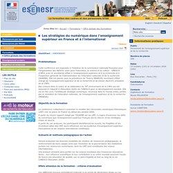 Les stratégies du numérique dans l'enseignement supérieur en France et à l'international