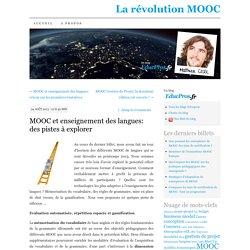 MOOC et enseignement des langues: des pistes à explorer