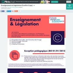 Enseignement et Législation (Conflict Copy)
