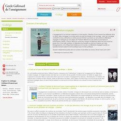Cercle Gallimard de l'enseignement/La littérature engagée