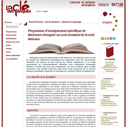 Programme d'enseignement spécifique de littérature étrangère au cycle terminal de la série littéraire
