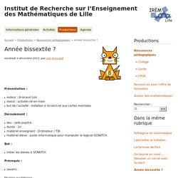 Année bissextile ? - Institut de Recherche sur l'Enseignement des Mathématiques de Lille