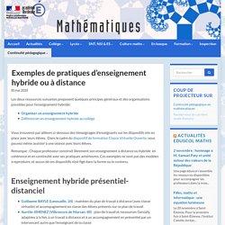 Exemples de pratiques d'enseignement hybride ou à distance - Mathématiques - Académie de Bordeaux