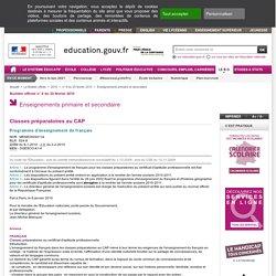 Programme d'enseignement de français - MENE0925411A