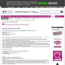 Programme d'enseignement d'histoire-géographie-éducation civique - MENE0925419A