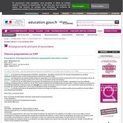 Programme Histoire-Géo CAP (2010)