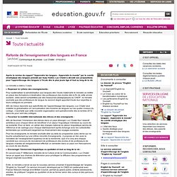 Refonte de l'enseignement des langues en France