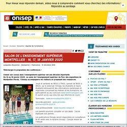 Salon de l'enseignement supérieur, Montpellier : 16, 17, 18 janvier 2020
