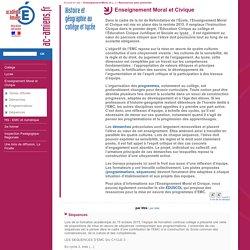 Académie d'Amiens - Histoire et géographie au collège et lycée - Enseignement Moral et Civique