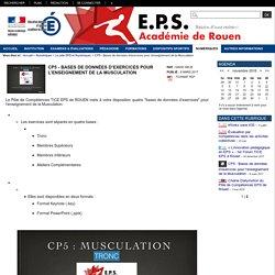 EPS - académie de Rouen - CP5 - Bases de données d'exercices pour l'enseignement de la Musculation