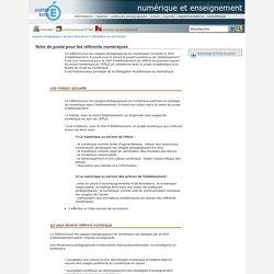 numérique et enseignement - fiche de poste pour les référents numériques