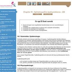 Enseignement d'ophtalmologie - Niveau deuxième cycle