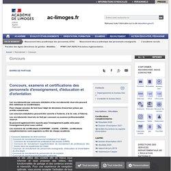 Concours des personnels d'enseignement, d'éducation et d'orientation - ac-limoges.fr
