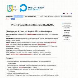Iannis Aliferis, Enseignement, Projet PACTIVANS