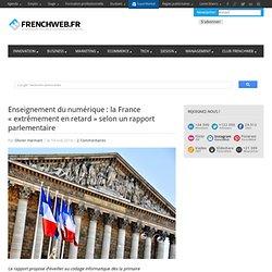 Enseignement du numérique : la France «extrêmement en retard» selon un rapport parlementaire