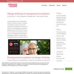 Design thinking et enseignement supérieur