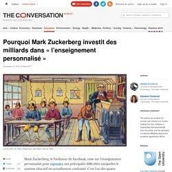 Pourquoi Mark Zuckerberg investit des milliards dans «l'enseignement personnalisé»