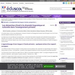 Séminaire « L'enseignement des langues vivantes, perspectives » - Les démarches d'éveil à la diversité linguistique et culturelle dans l'enseignement primaire