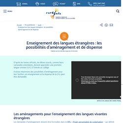 Surdi-info - Centre national d'information sur la surdité - Enseignement des langues étrangères : les possibilités d'aménagement et de dispense