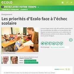 Enseignement : Les priorités d'Ecolo face à l'échec scolaire