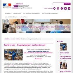 Conférence – Enseignement professionnel