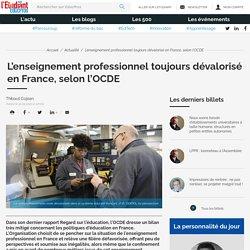 L'enseignement professionnel toujours dévalorisé en France, selon l'OCDE